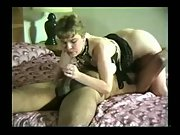 Slut wifey sucking a bbc in a sixty-nine position interracial amateur porn movie