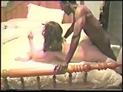 Cuck husband filming sexy wife breeding with two black guys and anal