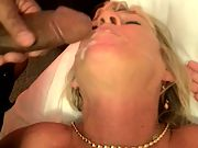 A super-cute facial for my slut wife