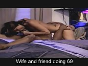 Luxurious wife doing sixty-nine with black mate