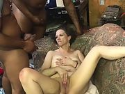 """2 11"""" long bbc nut all over wifes face"""
