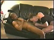 Black my white wife cuckold homemade bred on leather couch with stud