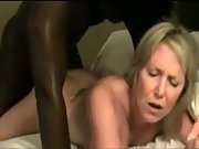 Dirty mature blonde taken in front of spouse by massive black cock