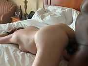 Bbc doggystyle style and toying with my clit