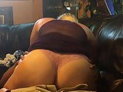 Blondie wife having black on white fuckfest on home sofa