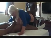 Busty mature slut got destroyed by dark-hued bulls in a cuckold threesome