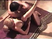 Skinny cuckold towheaded wife mixed-race bbc orgasm