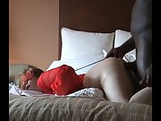 Blindfolded redhead takes a xxx pounding doggystyle
