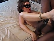 Brunette big black cock whore getting pummelled by a black bull