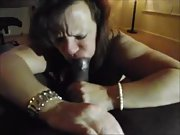 Mischievous wife craving a huge ebony trouser snake in her crevices