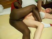 Blacked couple having missionary hookup in bed