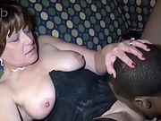 Mature wifey pounding ebony with meaty boner