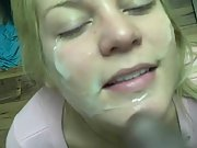 Gloria just loves ebony guys letting us probe her fuck-holes and cum on face